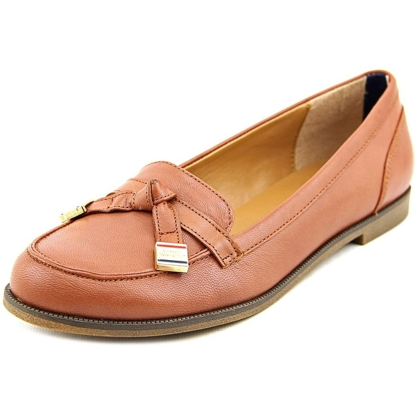 Tommy Hilfiger Letyan Women Round Toe Leather Brown Loafer
