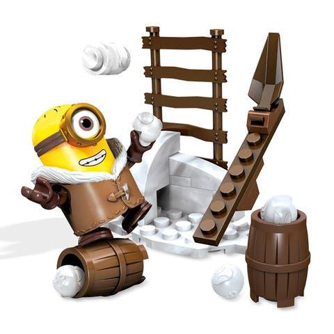 Minions Mega Bloks 26-Piece Construction Set, Snowball Fight - Multi