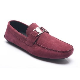 Versace Collection Medusa Driving Shoes Maroon