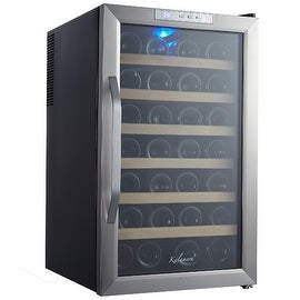 Kalamera KR-28ASS 28 Bottle Stainless Steel Freestanding Wine Cooler Refrigerator