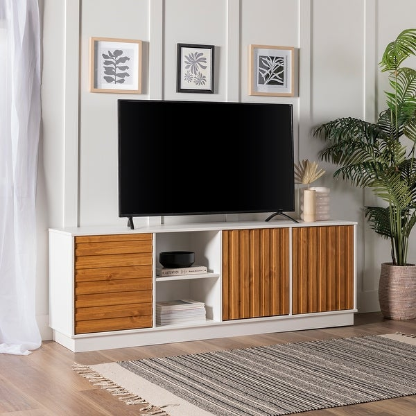 Carson Carrington 70-inch Two-Tone 3-Door TV Console. Opens flyout.