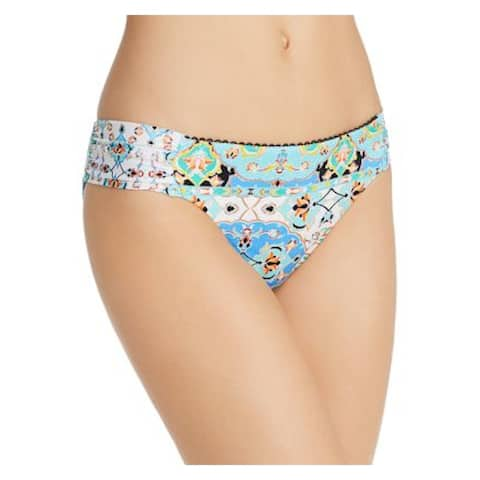 NANETTE LEPORE Women's Blue Floral Swimwear Bottom 14