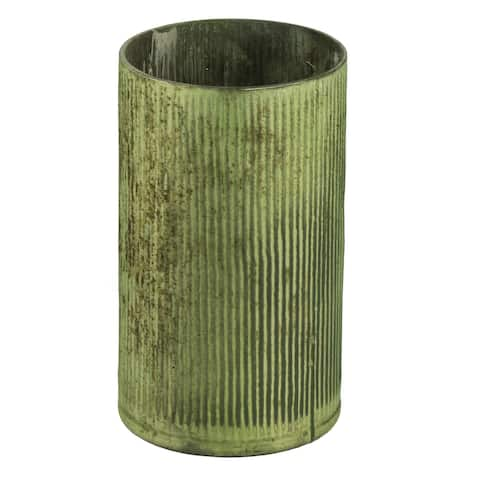 A&B Home Papaya Green 10-inch Tall and Wide Vase