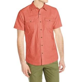 G.H. Bass & Co. Red Mens Size XL Button Down Short Sleeve Shirt