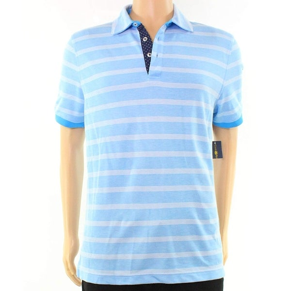 4d16892d825 Shop Club Room Blue Mens Size XL Striped Slim Fit Polo Rugby Shirt - Free  Shipping On Orders Over $45 - Overstock - 22514600