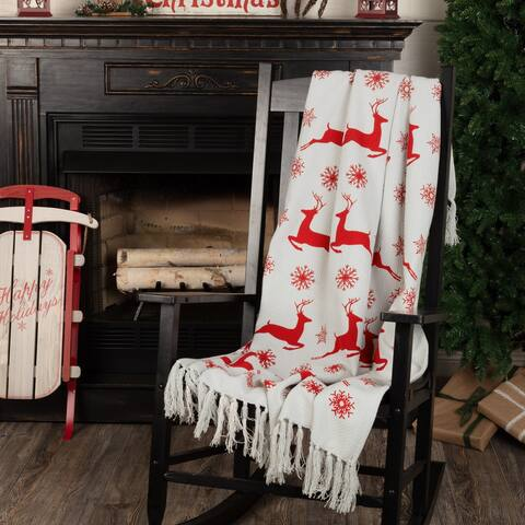 Reindeer Dash Woven Throw 60x50