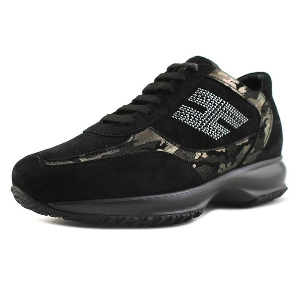 8f2084a765 Hogan Interactive H-Strass Bicolore Women Leather Black Fashion Sneakers