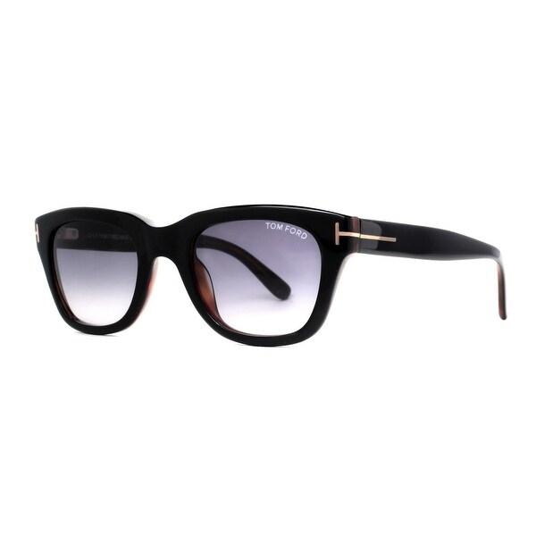 05b97fd12350f Tom Ford Snowdon TF 237 05B 50mm Shiny Black Gray Gradient Men Square  Sunglasses -
