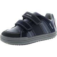 Geox Boys Elvis J Fashion Casual Sneaker Shoes - Navy/Grey - 34 m eu / 3 m us little kid