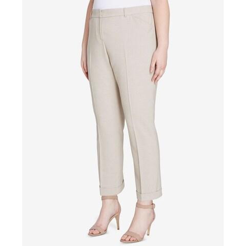 Tahari ASL Womens Plus Pleat Front Dress Pants
