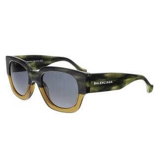 Balenciaga BA0011 65V Havana Gradient Square Sunglasses - havana gradient - 51-21-135