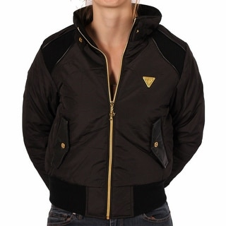 Akademiks Junior Rhinestone Logo Black Bomber Jacket
