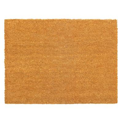RugSmith Natural Machine Tufted Plain Doormat