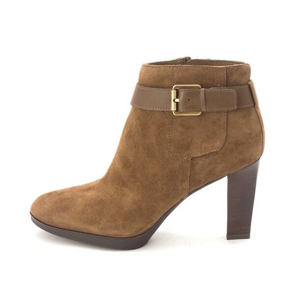 Franco Sarto Womens Idrina Leather Almond Toe Ankle Fashion Boots