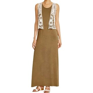 Design History Womens Dress With Vest Sleeveless Maxi