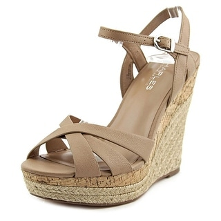 Charles By Charles David Astro Women Open Toe Leather Wedge Sandal
