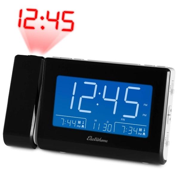 Magnasonic Alarm Clock Radio with USB Charging for Smartphones, Time Projection, Auto Dimming, Dual Gradual Wake Alarm