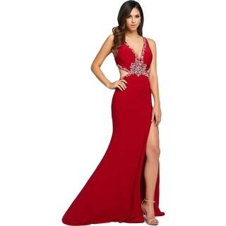Mac Duggal Womens Embellished Prom Formal Dress - 0
