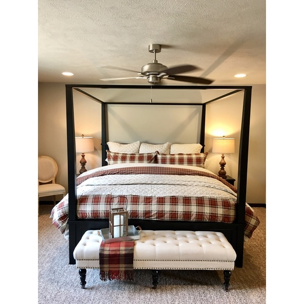 Bedford King Canopy Bed by Home Styles - Free Shipping Today - Overstock.com - 15093444  sc 1 st  Overstock.com & Bedford King Canopy Bed by Home Styles - Free Shipping Today ...
