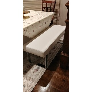 Christopher Knight Home Leah White Dining Bench Seat