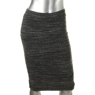Splendid Womens Ruched Mini Knit Skirt