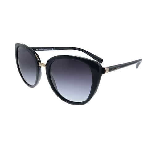 Bvlgari BV 8177 501/8G Womens Black Frame Grey Gradient Lens Sunglasses