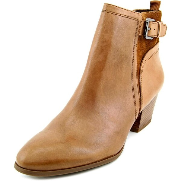 06478066fe48 Shop Franco Sarto Garda Women Round Toe Leather Brown Ankle Boot ...