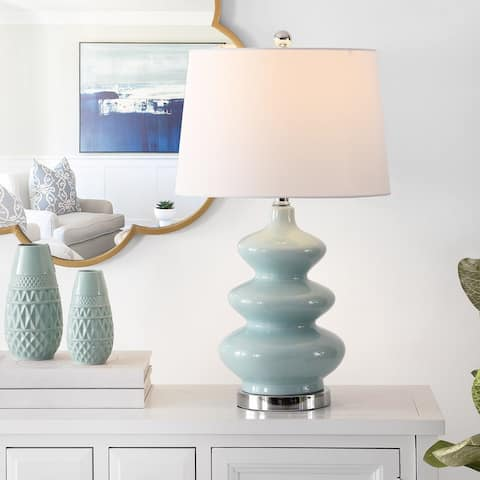 "SAFAVIEH Lighting 27.5-inch Brielle Mosaic Table Lamp - 15"" x 15"" x 27.5"""