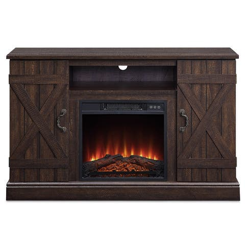 "BELLEZE 47"" TV Stand With Infrared Electric Fireplace - standard"