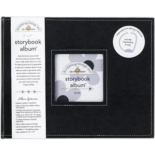 "Doodlebug Storybook Album 8""X8""-Beetle Black"