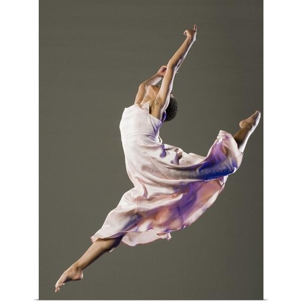 """""""Female ballet dancer jumping"""" Poster Print"""