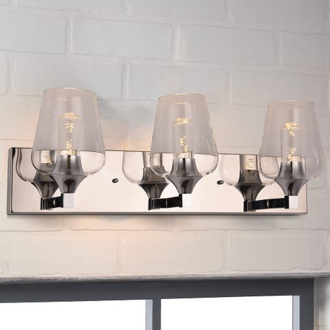 Clihome 8.27 in.W Metal 3-Light Wall Sconce