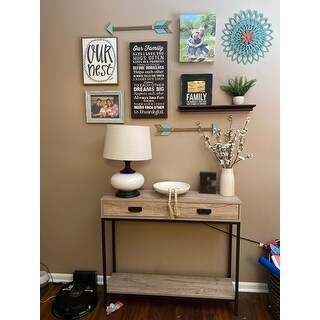 Roomfitters 2 Drawer Entryway Console Table, Sofa Table for Hallway Foyer