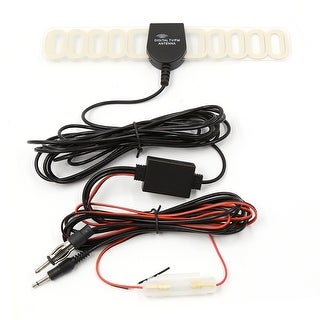 Unique Bargains Car Digital TV DVB-T FM Radio Antenna Aerial Amplified Booster Connector DC 12V