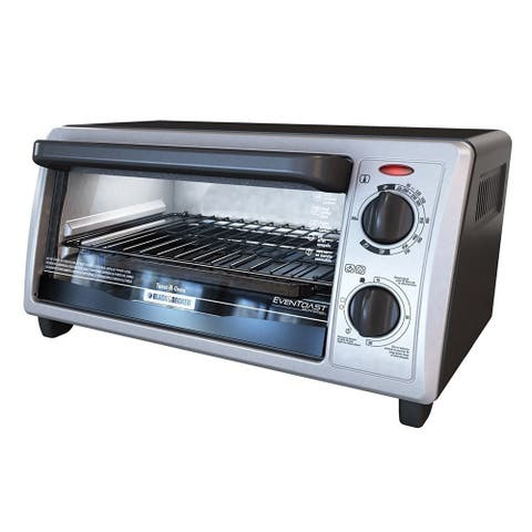 Black & Decker TO1322SBD 4-Slice Countertop Toaster Oven, Stainless Steel