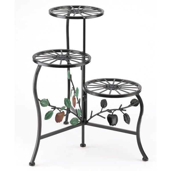 Country Apple 3-Tier Plant Stand