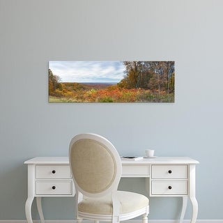 Easy Art Prints Panoramic Image 'View of autumn trees, Brown County State Park, Brown County, Indiana, USA' Canvas Art