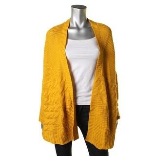 John Paul Richard Womens Open Front Cable Knit Cardigan Sweater