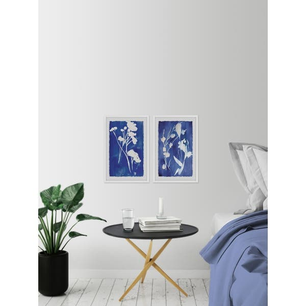 """Two Panel Framed Marmont Hill MH-AMSETS-352-WFPFL-16 12/"""" x 16/"""" Blue"""