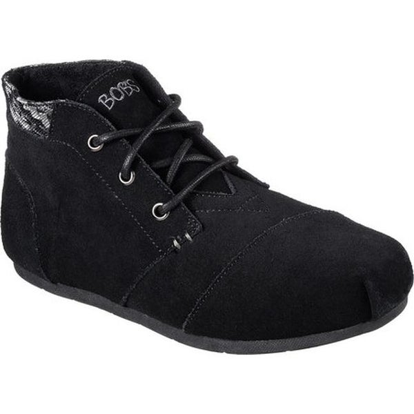 Luxe BOBS Rustic Sole Ankle Boot Black