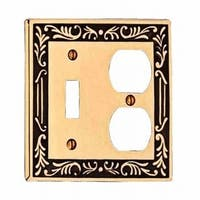 Victorian Switch Plate Toggle Outlet Antique Solid Brass | Renovator's Supply