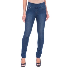 Lola Jeans Rebeccah-MB, High Rise Pull On Straight Leg With 4-Way Stretch
