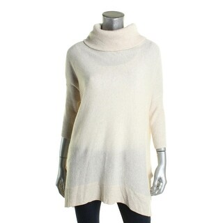 Aqua Womens Poncho Sweater Ribbed Trim 3/4 Sleeves (Option: Black)
