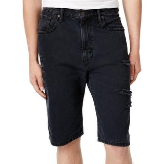 Levi's Mens 569 Bermuda Shorts Denim Destroyed