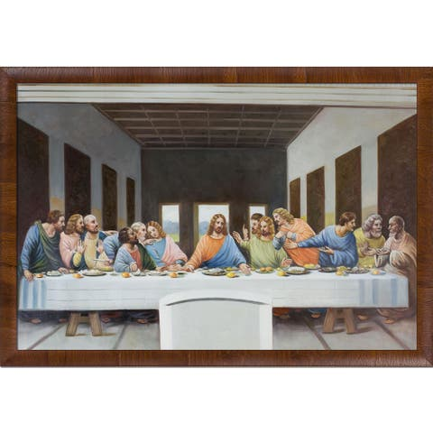 Leonardo da Vinci 'The Last Supper' Hand Painted Oil Reproduction