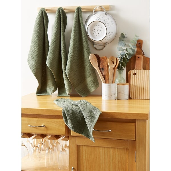 Shop DII Solid Terry Waffle Dishtowel Set of 4 - 10513705