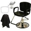 LCL Beauty Reclining Hydraulic Cutting and Shampoo Salon Chair - Thumbnail 0