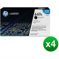 HP 647A Black Original LaserJet Toner Cartridge (CE260A)(4-Pack)