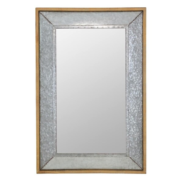 Aspire Home Accents 6176 Crosby 28 X 42 Rectangular Flat Metal And Wood Framed