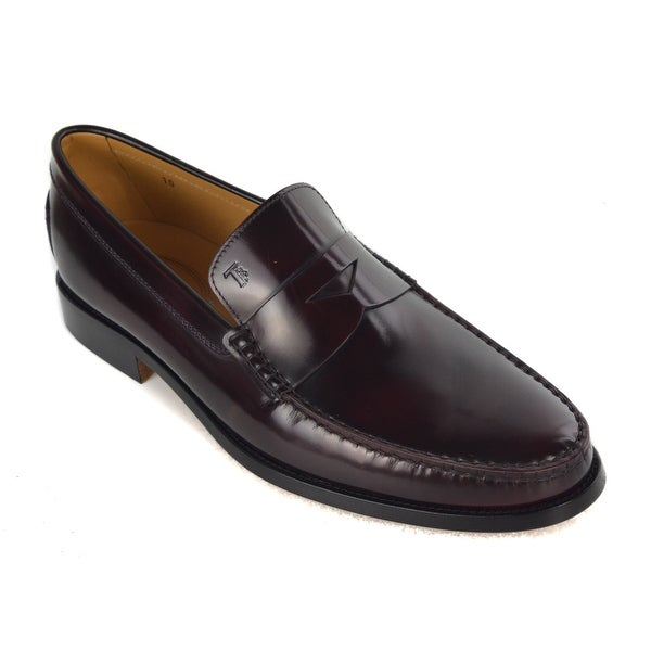 7f2f94604ecf Shop Tod's Men's Classic Burgundy Leather Penny Loafers - Free ...